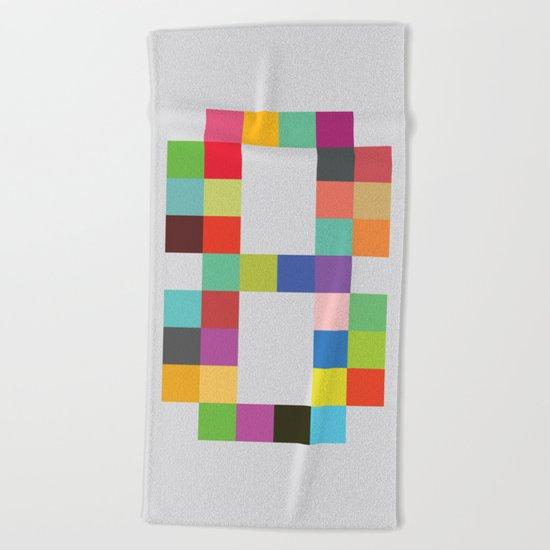 Eight Bit Beach Towel