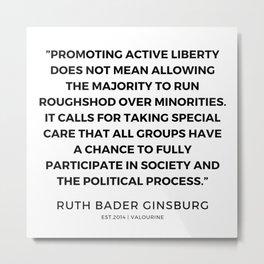 20      191115   Ruth Bader Ginsburg Quotes Metal Print
