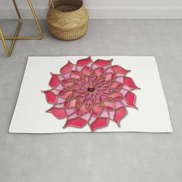 Abstract Stained Glass Dalia Pink1 Rug