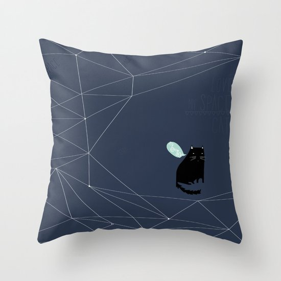 my_spacecat Throw Pillow