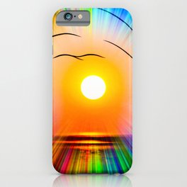 Sunset abstract iPhone Case