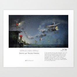 """""""Le Cap"""" en Mots & Image illustré par M.Konecka (French Touch) Art Print"""