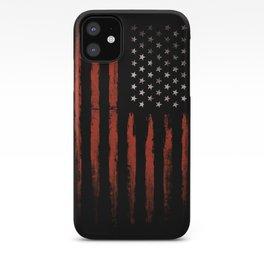 American flag Grunge Black iPhone Case