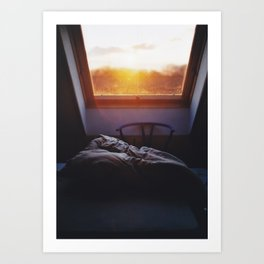 Sunset in bed Art Print