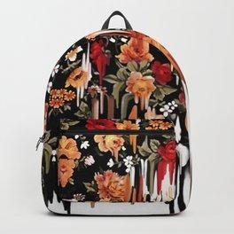 Free Falling, melting floral pattern Backpack