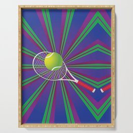 Tennis Ball and Racket Serving Tray