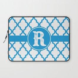 Blue Monogram: Letter R Laptop Sleeve