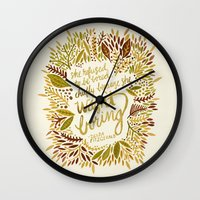 fitzgerald Wall Clocks featuring Zelda Fitzgerald – Fall Palette by Cat Coquillette