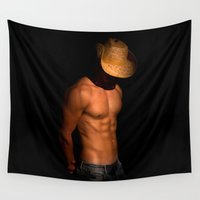 cowboy Wall Tapestries featuring cowboy by mark ashkenazi