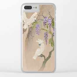 Cockatoos and Wisteria Clear iPhone Case