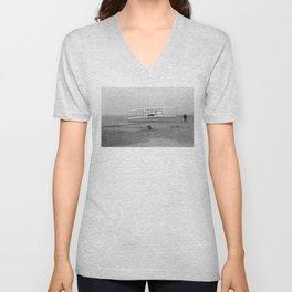 Wright Brothers First flight Kitty Hawk North Carolina December 17 1903 Unisex V-Neck