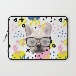 Dog with glasses Laptop Sleeve