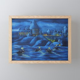 Hogwarts castle Framed Mini Art Print