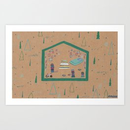 Somewhere in Northern Minnesota Art Print