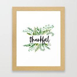 thankful floral Framed Art Print