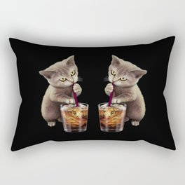 CAT LOVES SODA Rectangular Pillow