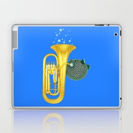 Puffer Fish Playing Tuba Laptop & iPad Skin