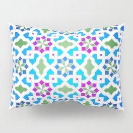 Beautiful oriental flower pattern 7 blue, green Pillow Sham