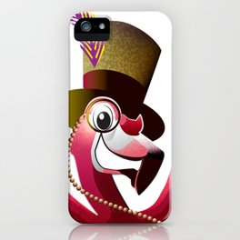 Party Flamingo iPhone Case