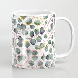 Simple Silver Dollar Eucalyptus Leaves Coffee Mug