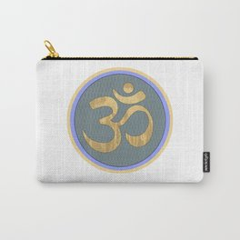 Blue and Yellow Om Circle Carry-All Pouch