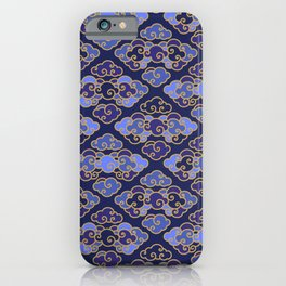 Blue Japanese Clouds iPhone Case