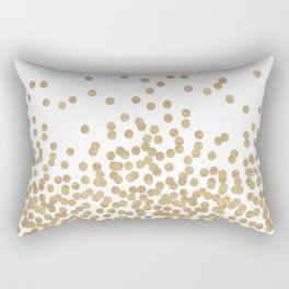 Gold Glitter Dots in scattered pattern Rectangular Pillow