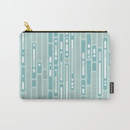 Ocean Reflection – Blue / Teal Midcentury Abstract Carry-All Pouch