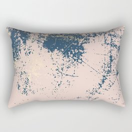 Patina pink navy gold Rectangular Pillow