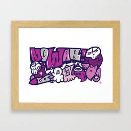 反戦争 - NO WAR  Framed Art Print