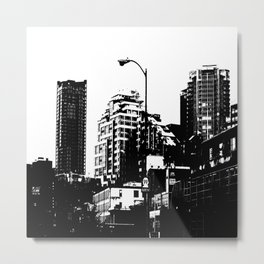 99 North in Black and White Metal Print