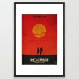 Brokeback Mountain Film Poster Framed Art Print