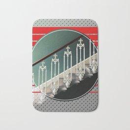 Stairway - red graphic Bath Mat