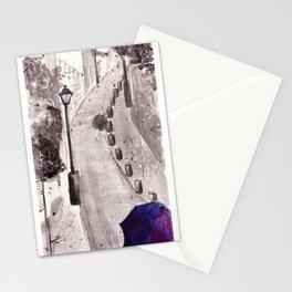Raining in Paris  Stationery Cards