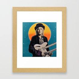 Tom Petty Tribute Mural (2019 Birthday Bash, Gainesville Florida) Framed Art Print