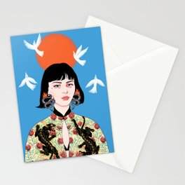 Can't you see I'm Burning Stationery Cards