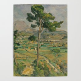 Mont Sainte-Victoire and the Viaduct of the Arc River Valley Poster