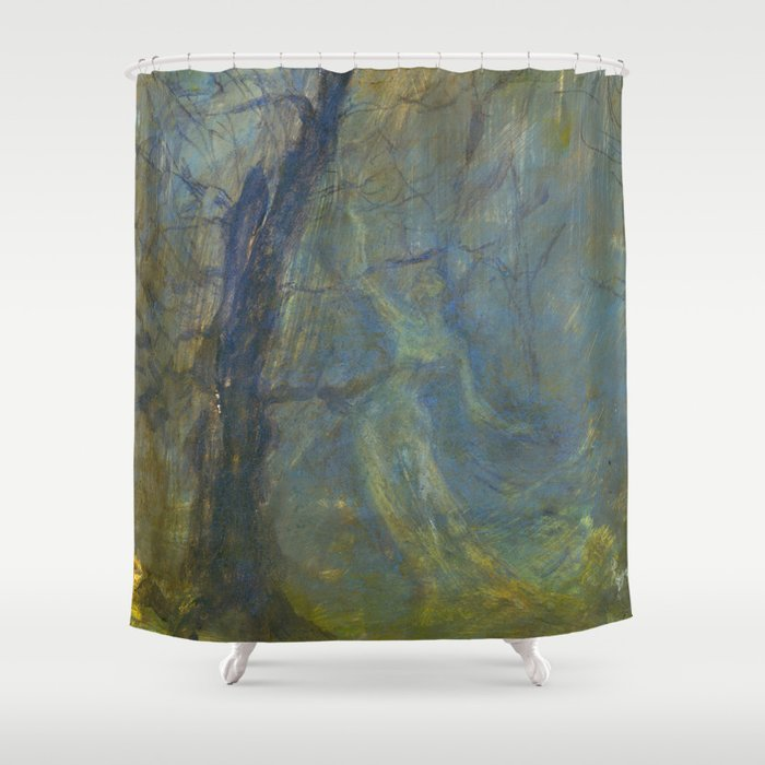 Dance Of The Wood Elf Shower Curtain By Spinningdaydreams