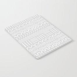 Mud Cloth on Light Gray Notebook