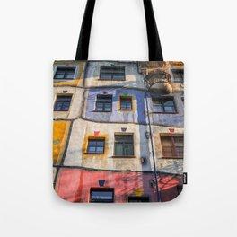 Hundertwasserhaus Vienne Autriche 3 Tote Bag