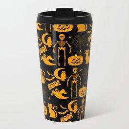 C13D Halloween Pattern Metal Travel Mug
