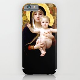 "William-Adolphe Bouguereau ""The Madonna of the Lilies"" iPhone Case"