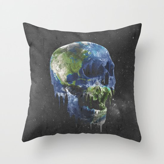 mothers dying Throw Pillow