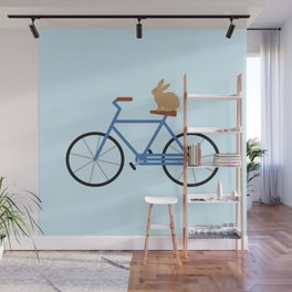 Bunny Riding Bike Wall Mural