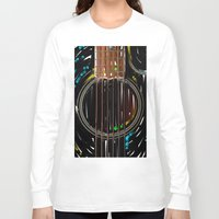 spanish Long Sleeve T-shirts featuring Spanish Guitar by Carles Marsal