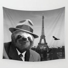 Gentleman Sloth in Paris Wall Tapestry