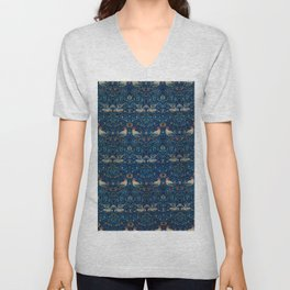 "William Morris ""Bird"" Unisex V-Neck"