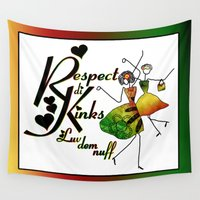 reggae Wall Tapestries featuring Natural Hair Art Reggae Island Vibe by Respect the Kinks
