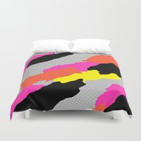 bruno mars Duvet Covers featuring Mars by Tyler Spangler