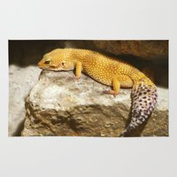lizard Area & Throw Rugs featuring Lizard by GardenGnomePhotography